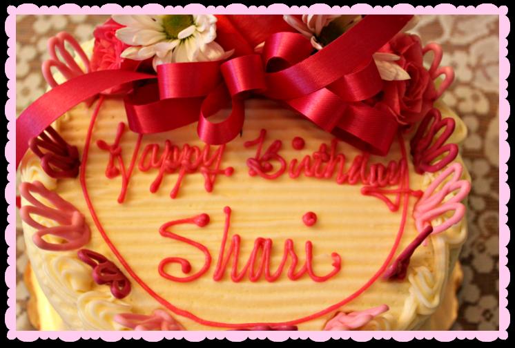 Happy Birthday Shari Cake