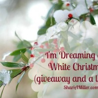 I'm Dreaming of a White Christmas (giveaway and a link up)