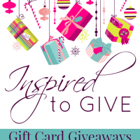 Inspired to Give Gift Card Giveaways with a Little Sparkle and a Little Shine